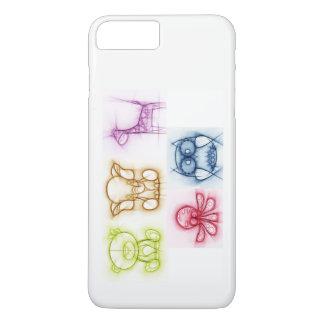 Capa iPhone 8 Plus/7 Plus Cores animais