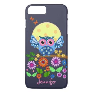 Capa iPhone 8 Plus/7 Plus Coruja bonito do primavera & nome do costume