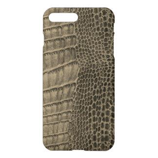 Capa iPhone 8 Plus/7 Plus Couro clássico do réptil do crocodilo de Nile