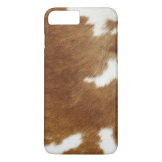 Capa iPhone 8 Plus/7 Plus Couro cru da vaca