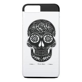 Capa iPhone 8 Plus/7 Plus Crânio em seu cobrir o malote do crânio