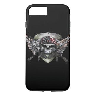 Capa iPhone 8 Plus/7 Plus Crânio militar com guerra cruzada do Special da