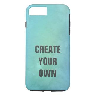 Capa iPhone 8 Plus/7 Plus Criar sua própria pintura da aguarela de turquesa