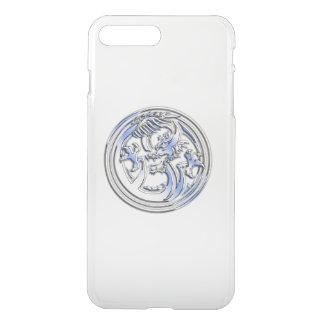 Capa iPhone 8 Plus/7 Plus Crista do dragão do cromo no espaço livre