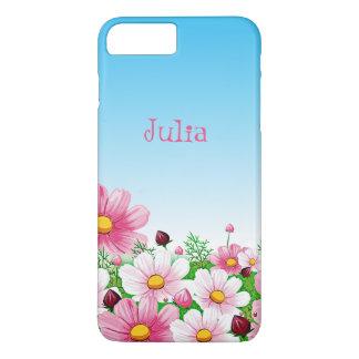 Capa iPhone 8 Plus/7 Plus Da margarida floral da flor do verão do primavera