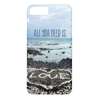 """Capa iPhone 8 Plus/7 Plus Da """"praia de Havaí das citações do amor"""