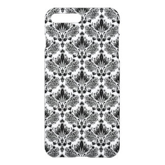 Capa iPhone 8 Plus/7 Plus Damascos florais elegantes do vintage preto &