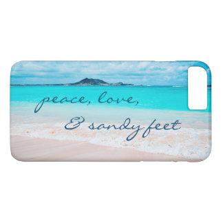 """Capa iPhone 8 Plus/7 Plus De """"Os pés Sandy"""" citam a foto azul do oceano & do"""