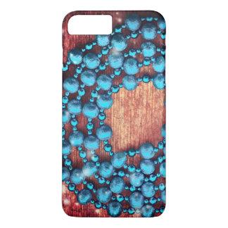 Capa iPhone 8 Plus/7 Plus Decoração retro do Natal, textura perlada, de