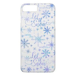 Capa iPhone 8 Plus/7 Plus Deixais lhe para nevar teste padrão do inverno