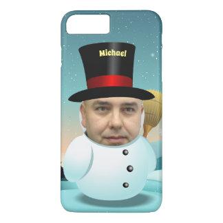 Capa iPhone 8 Plus/7 Plus Desenhos animados do boneco de neve com sua