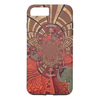Capa iPhone 8 Plus/7 Plus Design animal de Hakuna Matata do girafa