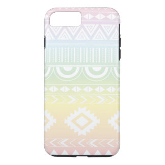 Capa iPhone 8 Plus/7 Plus Design asteca Phonecase do arco-íris Pastel