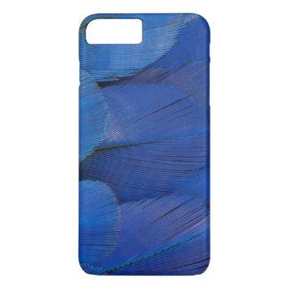 Capa iPhone 8 Plus/7 Plus Design azul da pena do Macaw do jacinto