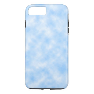 Capa iPhone 8 Plus/7 Plus Design azul e branco criado das nuvens