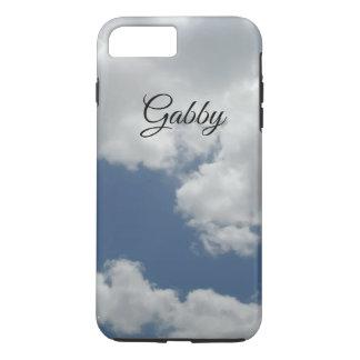 Capa iPhone 8 Plus/7 Plus Design bonito da foto das nuvens do branco