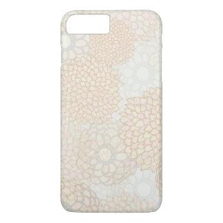 Capa iPhone 8 Plus/7 Plus Design da explosão da flor da argila e do Tan