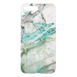 Capa iPhone 8 Plus/7 Plus Design de mármore cinzento & verde 3 da textura