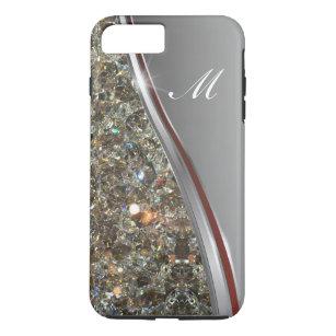 Capa iPhone 8 Plus/7 Plus Design elegante do monograma de Bling