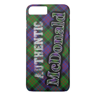 Capa iPhone 8 Plus/7 Plus Design escocês do Tartan de McDonald do clã
