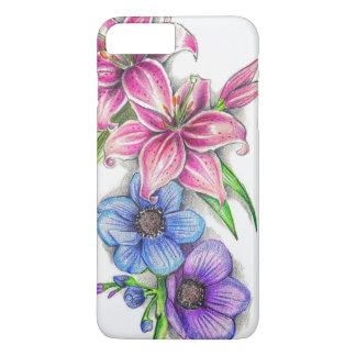 Capa iPhone 8 Plus/7 Plus Design floral artístico