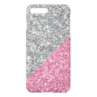 Capa iPhone 8 Plus/7 Plus Design geométrico da prata moderna e do brilho