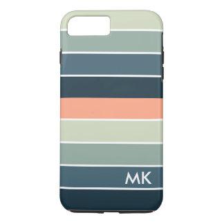 Capa iPhone 8 Plus/7 Plus Design geométrico das listras coloridas modernas