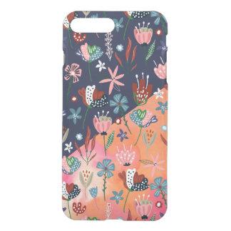 Capa iPhone 8 Plus/7 Plus Design geométrico moderno das flores coloridas
