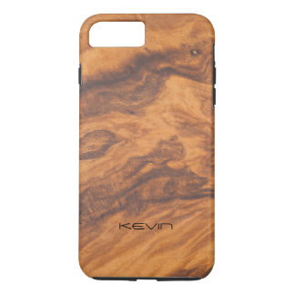 Capa iPhone 8 Plus/7 Plus Design moderno da textura de madeira do falso de