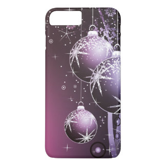 Capa iPhone 8 Plus/7 Plus Design roxo bonito do Natal