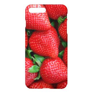 Capa iPhone 8 Plus/7 Plus Design vermelho do teste padrão das morangos