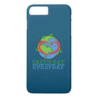 Capa iPhone 8 Plus/7 Plus Dia da Terra: Mantenha o verde & o reciclado da