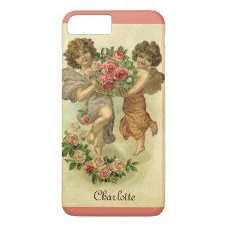 Capa iPhone 8 Plus/7 Plus Dia dos namorados do Victorian do vintage, rosas
