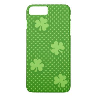 Capa iPhone 8 Plus/7 Plus Dia verde de Patricks do santo do teste padrão do