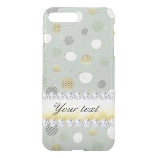 Capa iPhone 8 Plus/7 Plus Diamantes na moda das estrelas das bolinhas da