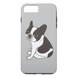 Capa iPhone 8 Plus/7 Plus Diga olá! ao Frenchie pied encapuçado dobro bonito