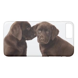Capa iPhone 8 Plus/7 Plus Dois filhotes de cachorro de labrador retriever do