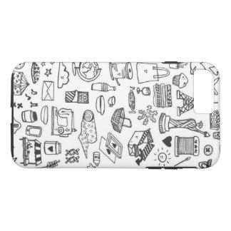 Capa iPhone 8 Plus/7 Plus Doodle louco