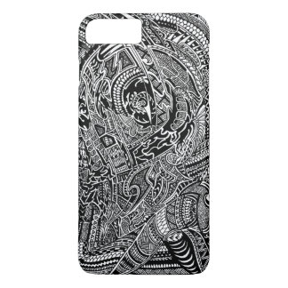 Capa iPhone 8 Plus/7 Plus Doodle louco tribal abstrato desenhado mão