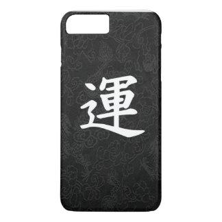 Capa iPhone 8 Plus/7 Plus Dragão japonês do preto da caligrafia do Kanji da