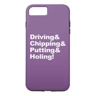 Capa iPhone 8 Plus/7 Plus Driving&Chipping&Putting&Holing (branco)