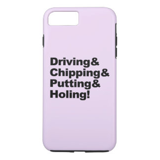 Capa iPhone 8 Plus/7 Plus Driving&Chipping&Putting&Holing (preto)