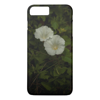 Capa iPhone 8 Plus/7 Plus Duas flores brancas