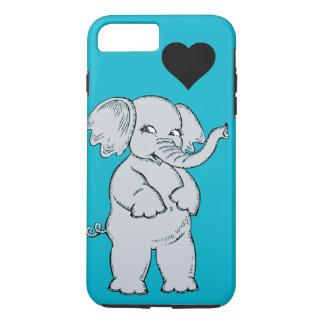 Capa iPhone 8 Plus/7 Plus Elefante bonito