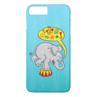 Capa iPhone 8 Plus/7 Plus Elefante irritado do circo que diz palavras más