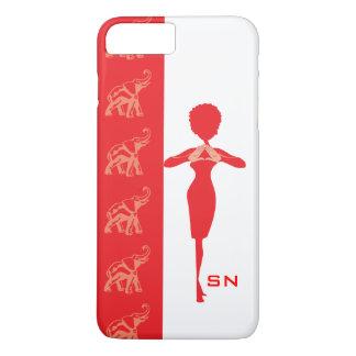 Capa iPhone 8 Plus/7 Plus Elefante vermelho
