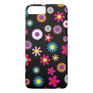 Capa iPhone 8 Plus/7 Plus Embalagem colorida doce da flor e do telefone do