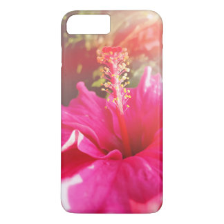 Capa iPhone 8 Plus/7 Plus Embalagem cor-de-rosa do hibiscus iPhone8