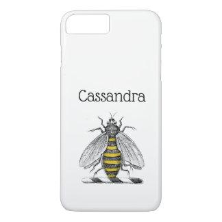 Capa iPhone 8 Plus/7 Plus Emblema heráldico formal C da brasão da abelha do