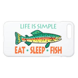 Capa iPhone 8 Plus/7 Plus Engraçado coma peixes do sono